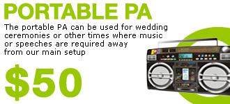 Portable PA $50 Extra